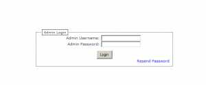 Screenshot of the Zen Cart Admin Login