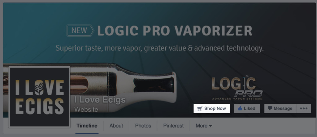 I Love Ecigs call-to-action button