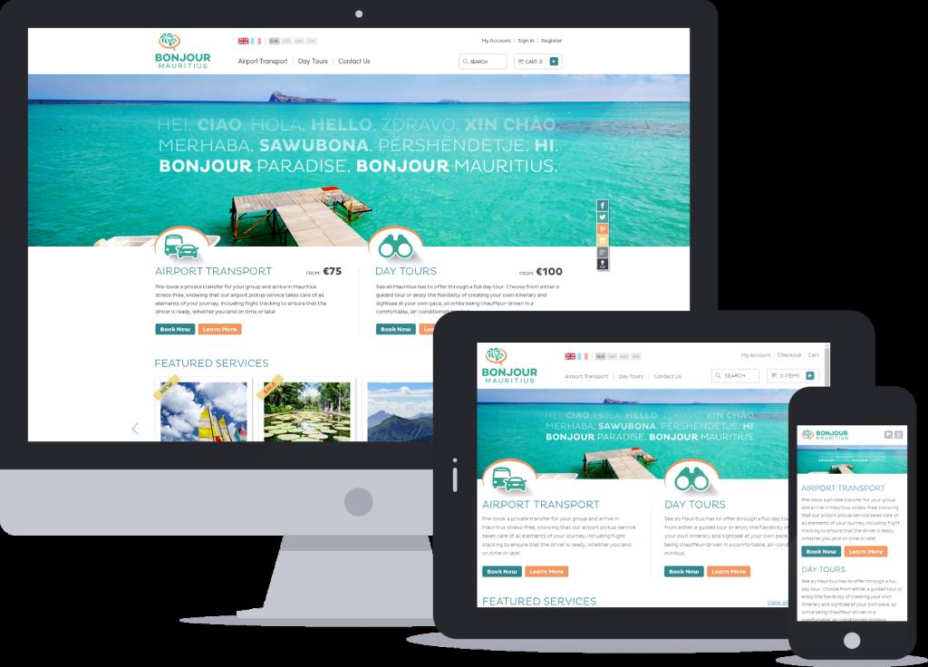 Bojour Mauritius responsive ecommerce