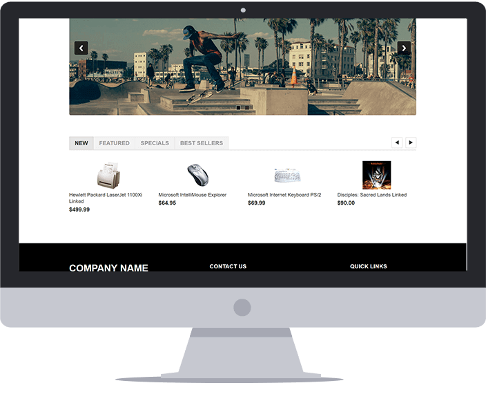 Home Page Product Carousels