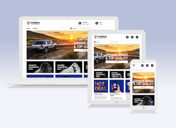 Cobra Transmission website redesign